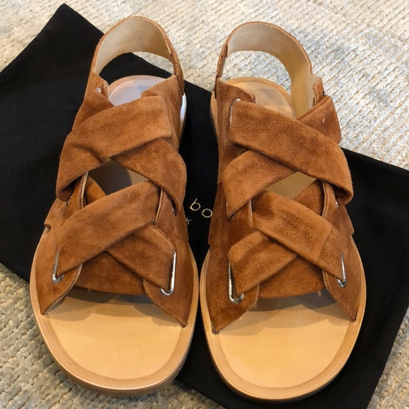 c68a3236a03 Rag   Bone Elda Suede Lace-Up Flat Sandal